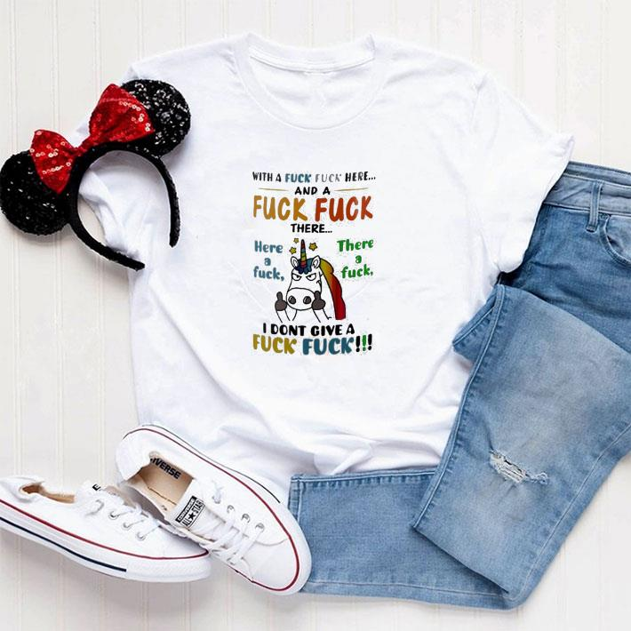 Official What a fuck fuck here and a fuck fuck Unicorn shirt