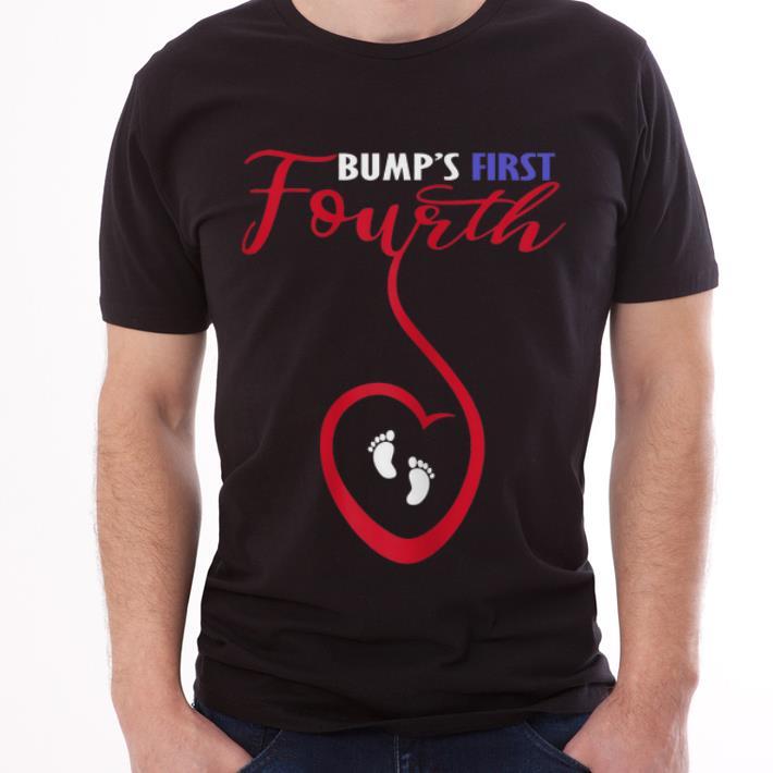 526c9a6ffc6e4 Original 4th Of July Pregnancy Announcement Bump s First Fourth Shirt 3 1  510x510 - Original