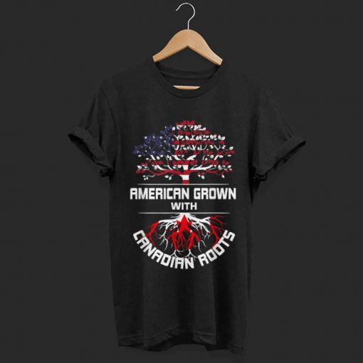 Original American Grown With Canadian Roots Usa Flag Shirt 1 1 510x510 - Original American Grown With Canadian Roots Usa Flag Shirt