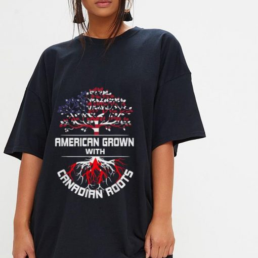 Original American Grown With Canadian Roots Usa Flag Shirt 3 1 510x510 - Original American Grown With Canadian Roots Usa Flag Shirt