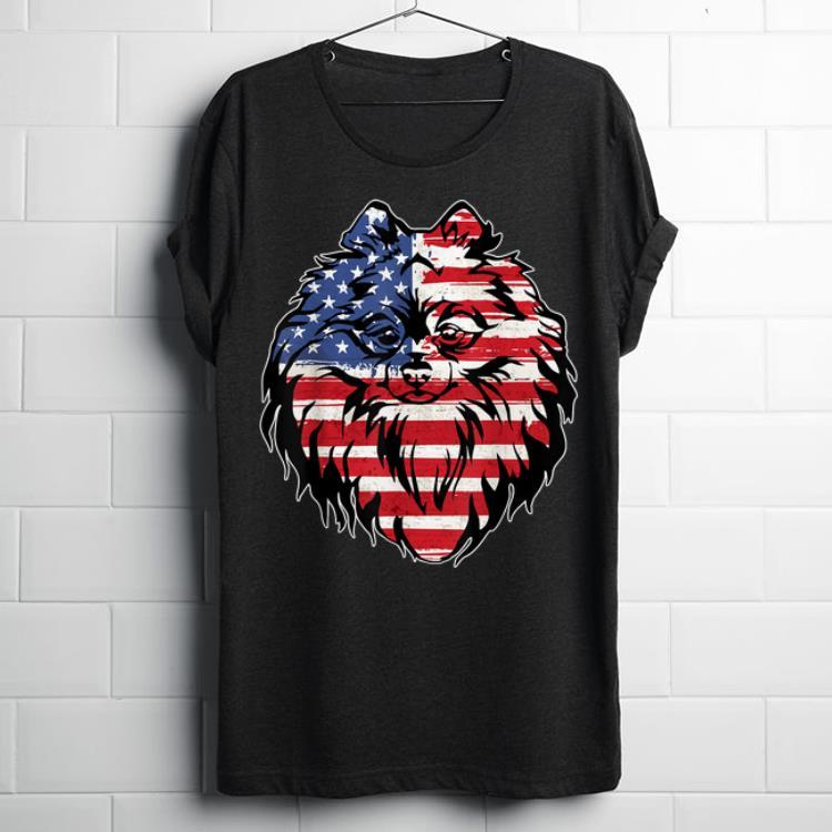 Original Funny Pomeranian American Flag 4th Of July shirt