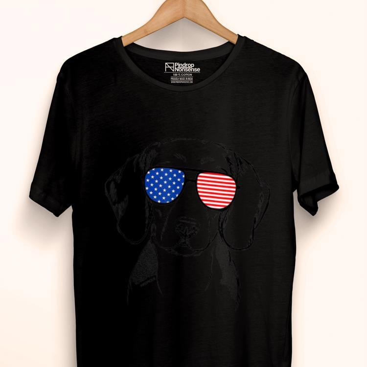 Original Jake The Beagle American Flag Sunglasses Dog Shirt