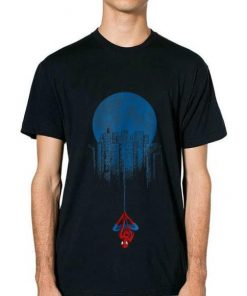 Original Marvel Spider man Blue Steel Moon Hang Graphic Shirt 2 1 247x296 - Original Marvel Spider-man Blue Steel Moon Hang Graphic Shirt