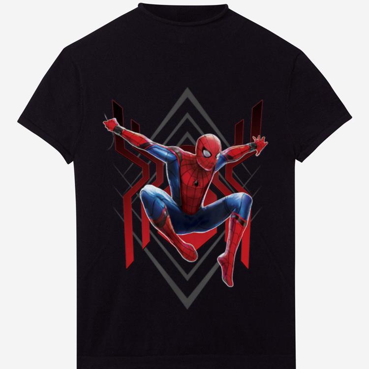 Original Marvel Spider-man Far From Home Geometric Jumping Portrait Shirt