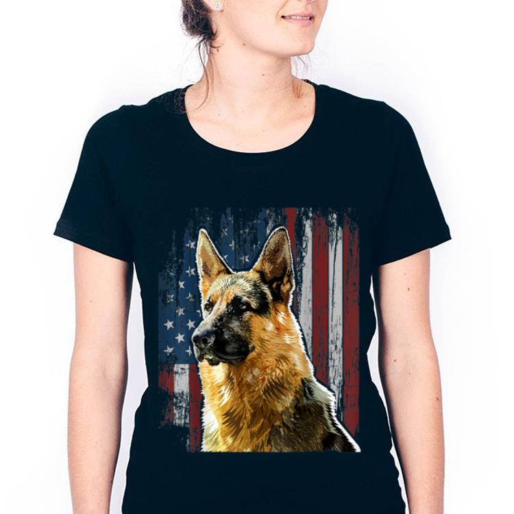 German Shepherd American Flag Dog Gifts