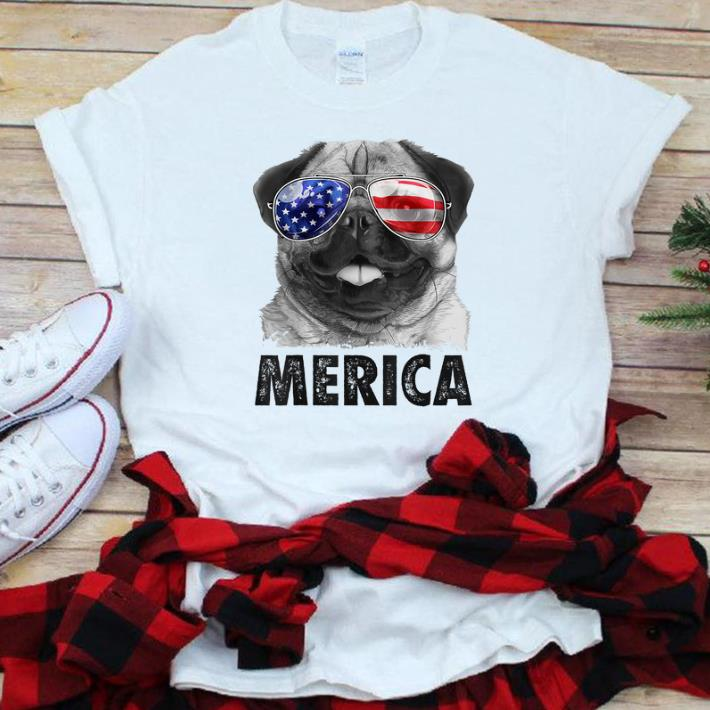 Original Pug 4th Of Julys Merica Men Women Usa American Flag Shirt