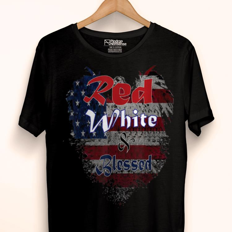 Original Red White And Blessed 4th Of July Christian shirt