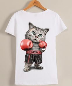 Original Womens Funtacy Tee Boxing Cat Shirt 1 1 247x296 - Original Womens Funtacy Tee Boxing Cat Shirt
