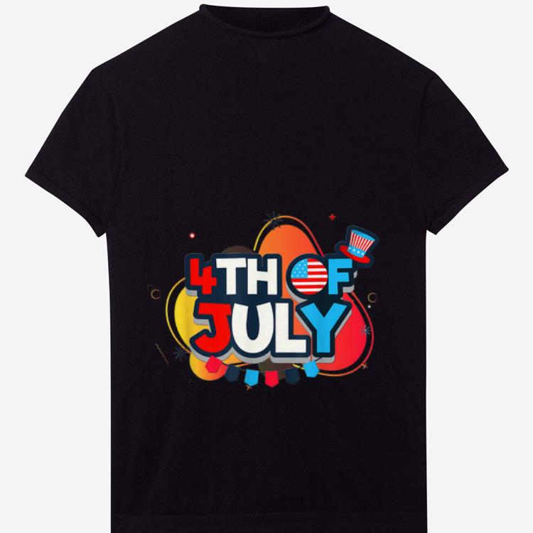 Premium 4th July With Uncle Sam Hat Independence Shirt