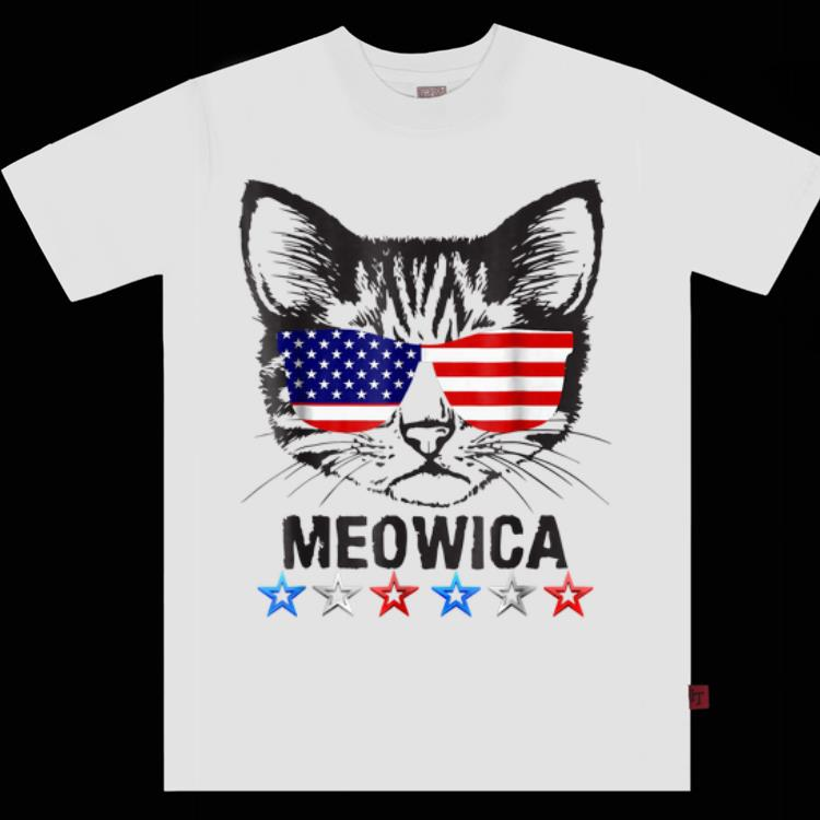 Premium 4th Of July American Flag Cat Meowica shirt