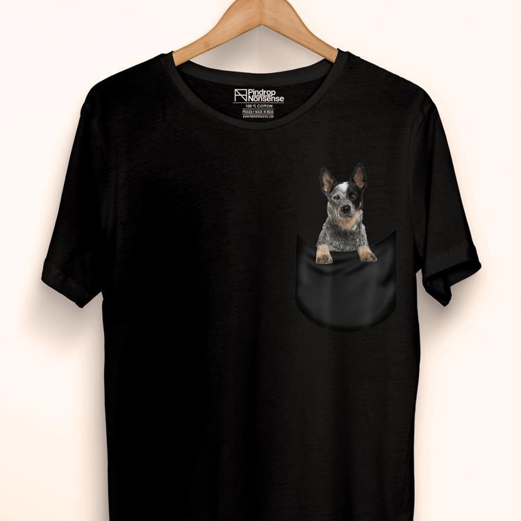Premium Australian Cattle Dog Pocket Father's Day Dog Shirt