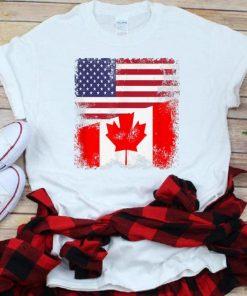 Premium Half Canadian Flag American Flag Canada USA Day Shirt 1 1 247x296 - Premium Half Canadian Flag American Flag Canada USA Day Shirt