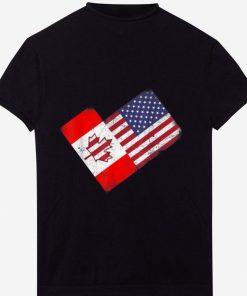 Pretty America Canada Flag Funny American Canadian Tee shirt 1 1 247x296 - Pretty America Canada Flag Funny American Canadian Tee shirt