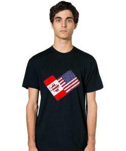Pretty America Canada Flag Funny American Canadian Tee shirt 2 1 247x296 - Pretty America Canada Flag Funny American Canadian Tee shirt