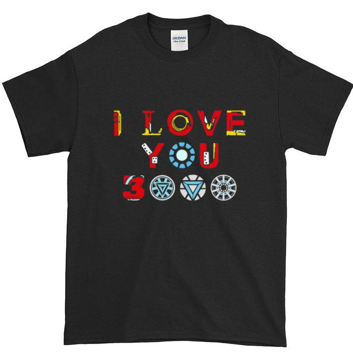 Pretty Tony Stark Iron man I love you 3000 daughter shirt