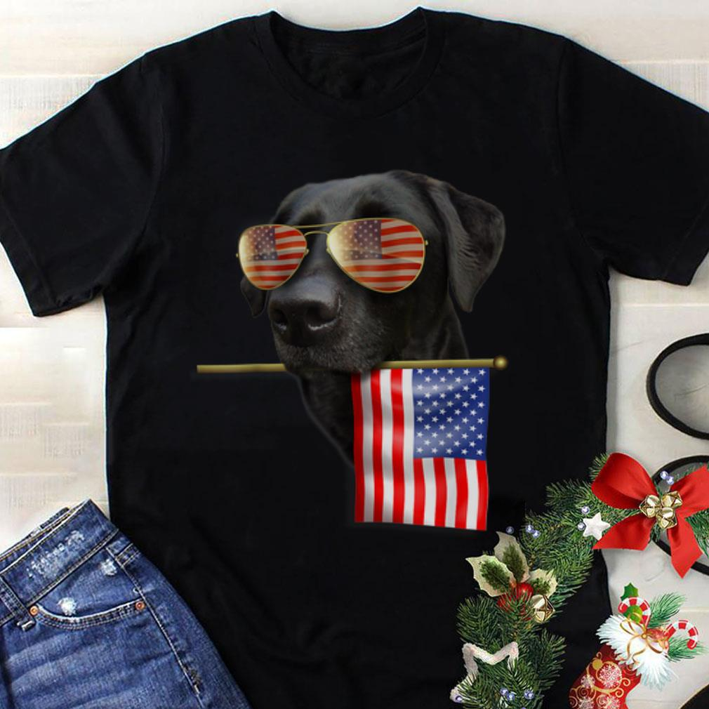 Top 4th Of July American Flag Labrador Dog shirt