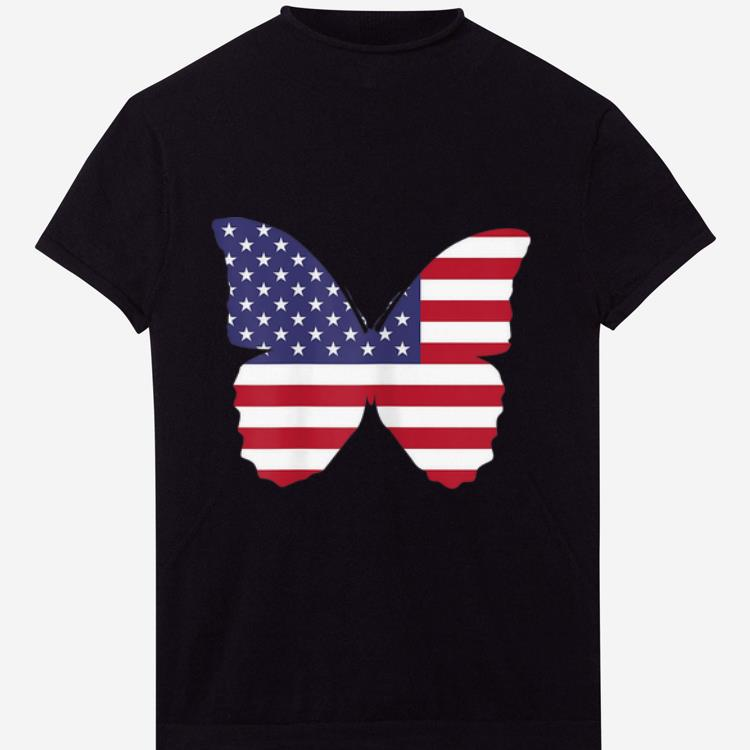 Top 4th Of July Butterfly American Flag Patriotic Happy Independence Day shirt