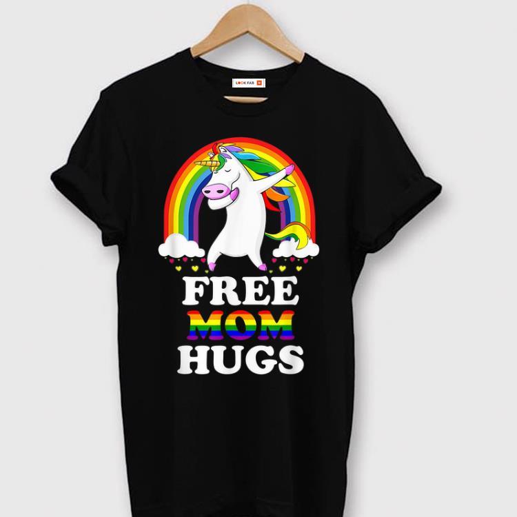 Top Free Mom Hugs Unicorn LGBT Pride Rainbow shirt