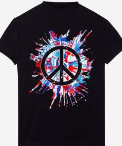 Top Peace Sign Red White Blue Patriotic Hippie Tie Dye shirt 2 1 247x296 - Top Peace Sign Red White Blue Patriotic Hippie Tie Dye shirt