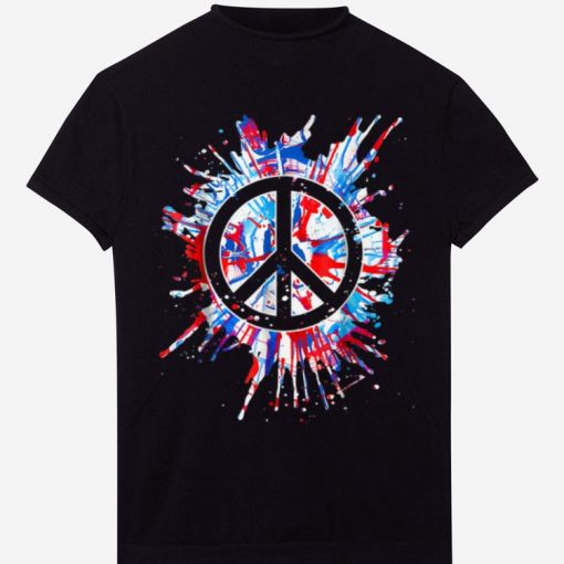 Top Peace Sign Red White Blue Patriotic Hippie Tie Dye shirt 2 1 510x510 - Top Peace Sign Red White Blue Patriotic Hippie Tie Dye shirt
