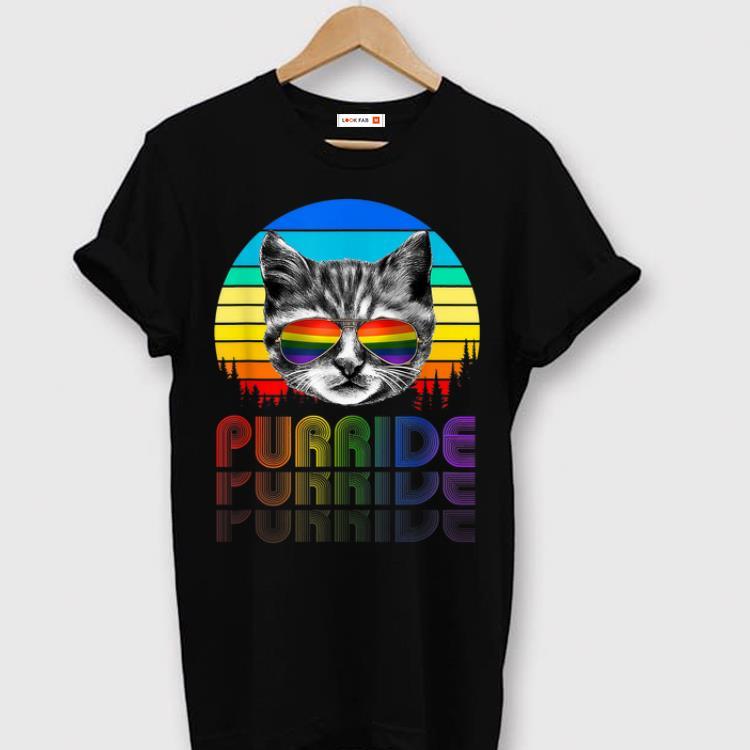 Top Purride Catlgbt LGBT Cat Gift Purride shirt