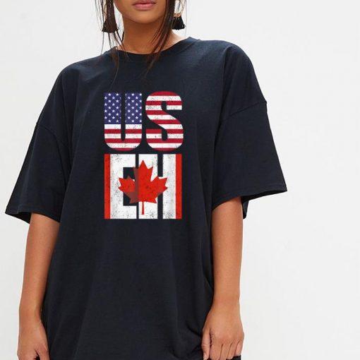 Us Eh American Canadian America Canada Flag shirt 3 1 510x510 - Us Eh American Canadian America Canada Flag shirt