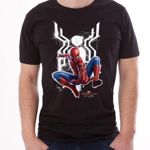 White Spider Spider man Far From Home Painted Logo Swing shirt 3 1 510x510 - White Spider Spider-man Far From Home Painted Logo Swing shirt