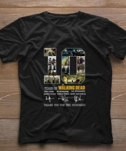 10 Years of The Walking Dead 2010 2020 signatures shirt 1 1 247x296 - 10 Years of The Walking Dead 2010-2020 signatures shirt