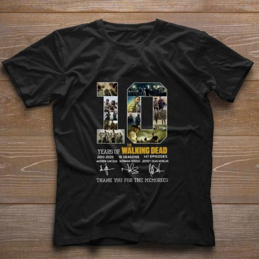 10 Years of The Walking Dead 2010 2020 signatures shirt 1 1 510x510 - 10 Years of The Walking Dead 2010-2020 signatures shirt