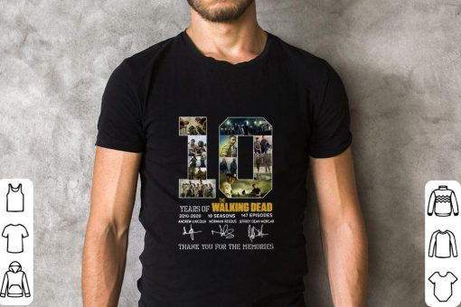 10 Years of The Walking Dead 2010 2020 signatures shirt 2 1 510x340 - 10 Years of The Walking Dead 2010-2020 signatures shirt