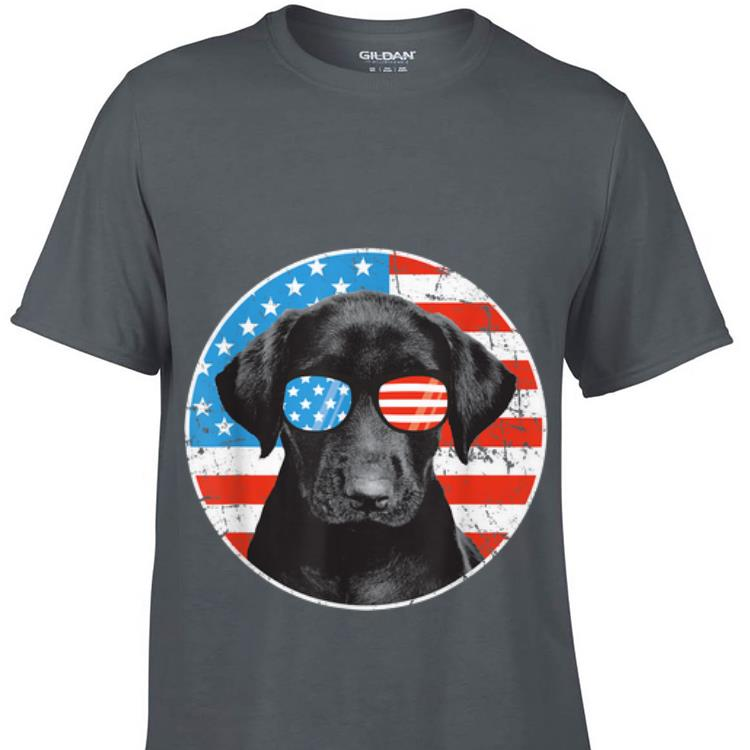 Awesome 4th Of July Dog Sunglass American Flag Labrador Retriever shirt