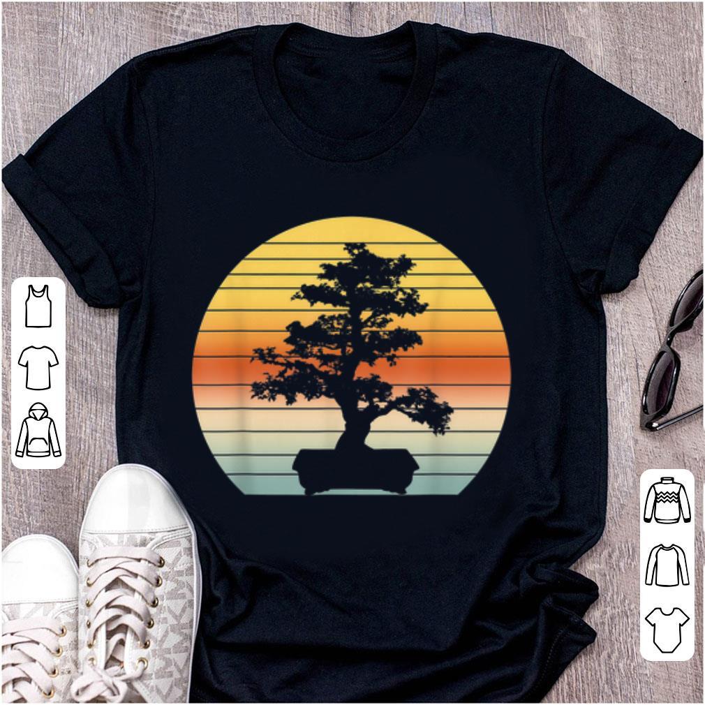 Awesome Bonsai Tree Vintage Japanese Bonsai Tree Sunset shirt