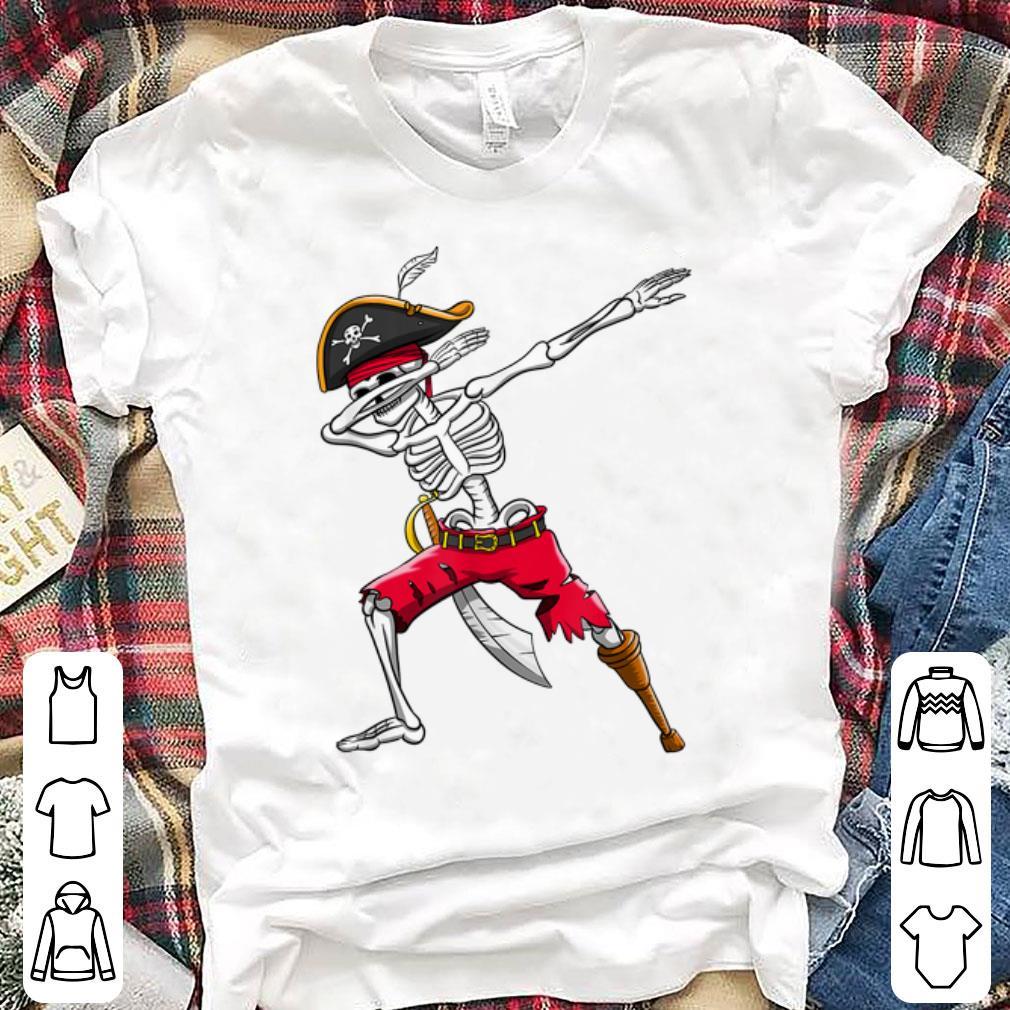 Awesome Dabbing Skeleton Pirate Halloween Dab shirt