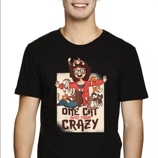 Awesome One Cat Away From Crazy Cat Lady Cats Lovers shirt 2 1 510x510 - Awesome One Cat Away From Crazy Cat Lady Cats Lovers shirt