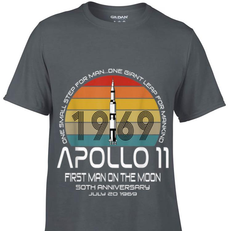Awesome One Small Step For man On Giant Leap For Mankind Apollo 11 First Man On The Moon Vintage shirt