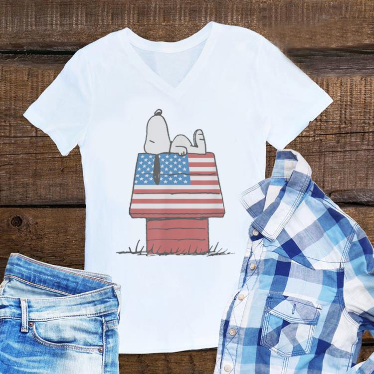 Awesome Peanuts Snoopy Laying American House shirt
