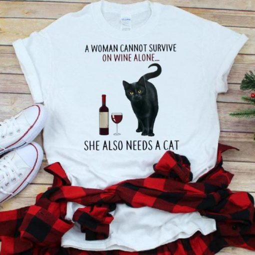 Best price A Woman Cannot Survive On Wine Alone She Also Need A Cat shirt 1 1 510x510 - Best price A Woman Cannot Survive On Wine Alone She Also Need A Cat shirt