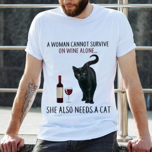 Best price A Woman Cannot Survive On Wine Alone She Also Need A Cat shirt 2 1 510x510 - Best price A Woman Cannot Survive On Wine Alone She Also Need A Cat shirt