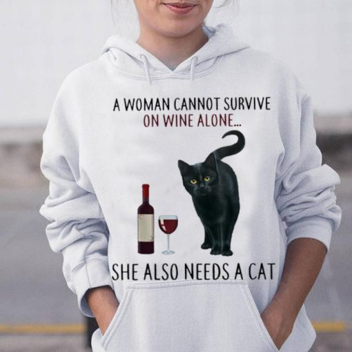Best price A Woman Cannot Survive On Wine Alone She Also Need A Cat shirt 3 1 510x510 - Best price A Woman Cannot Survive On Wine Alone She Also Need A Cat shirt