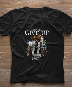 Cristiano Ronaldo Never give up signature shirt 1 1 247x296 - Cristiano Ronaldo Never give up signature shirt
