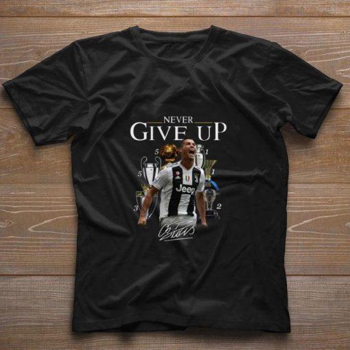 Cristiano Ronaldo Never give up signature shirt 1 1 510x510 - Cristiano Ronaldo Never give up signature shirt