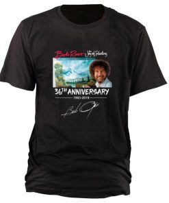 Funny Bob Ross The Joy of Painting 36th Anniversary signature shirt 1 1 247x296 - Funny Bob Ross The Joy of Painting 36th Anniversary signature shirt