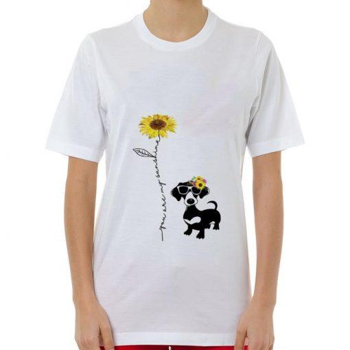 Funny Dachshund You are my sunshine sunflower shirt 3 1 510x510 - Funny Dachshund You are my sunshine sunflower shirt