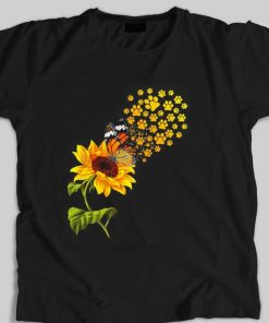 Funny Dog paw sunflower and butterfly shirt 1 1 247x296 - Funny Dog paw sunflower and butterfly shirt