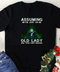 Funny Maleficent Assuming i m just an old lady was your first mistake shirt 1 1 247x296 - Funny Maleficent Assuming i'm just an old lady was your first mistake shirt