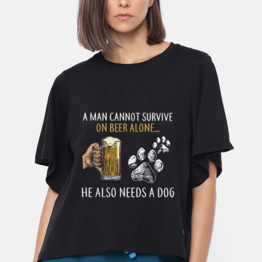 Hot A Man Cannot Survive On Beer Alone He Also Needs A Dog shirt 3 1 510x510 - Hot A Man Cannot Survive On Beer Alone He Also Needs A Dog shirt