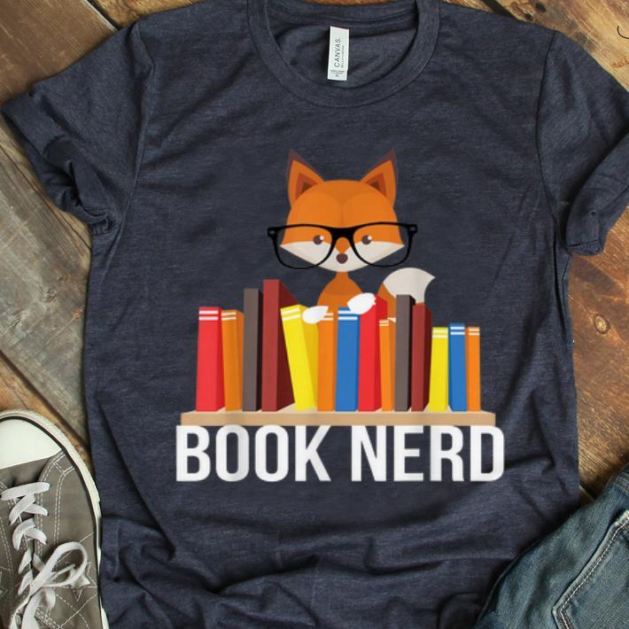 Hot Book Nerd Fox Animal Lovers Cute Funny Reading Geek shirt