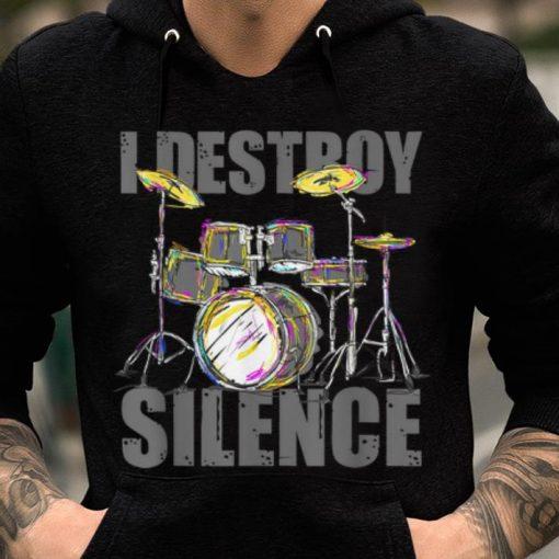 Hot Drums I Destroy The Silence Drummer Musical Instrument Drums Lover shirt 2 1 510x510 - Hot Drums I Destroy The Silence Drummer Musical Instrument Drums Lover shirt