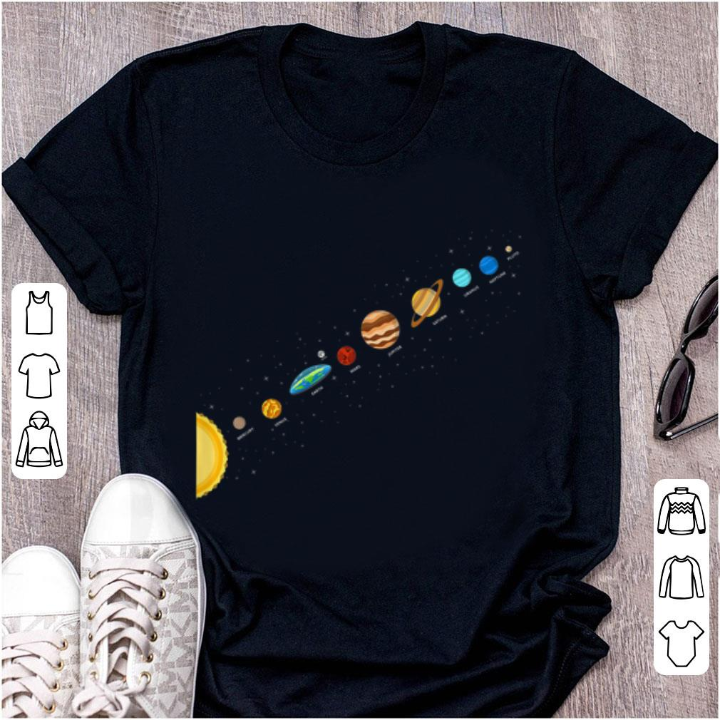 Hot Flat Earth Believers Solar System View Flat Earth Society shirt
