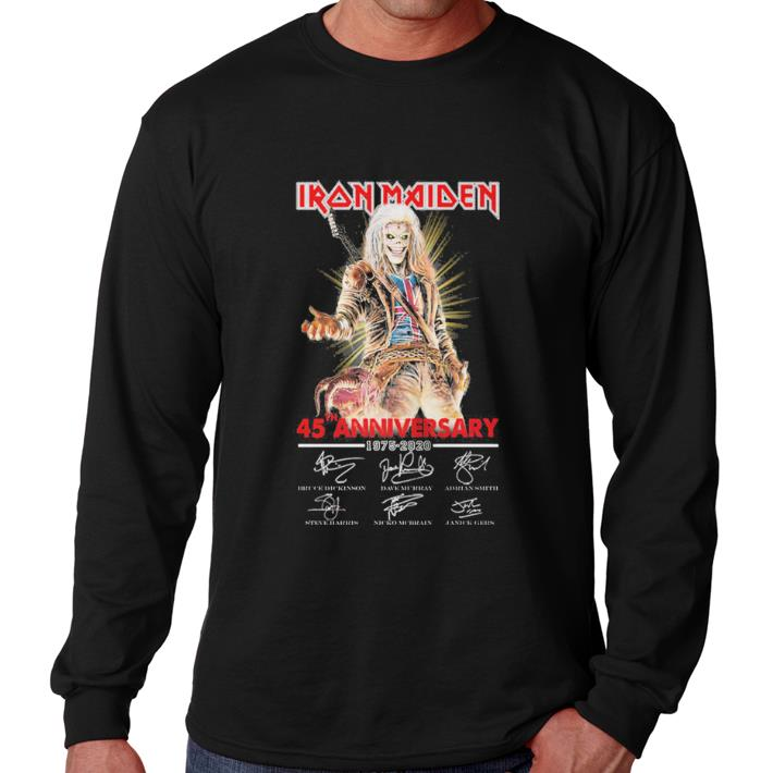 Hot Iron Maiden 45th anniversary 1975-2020 signatures shirt